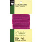 *5/8in Fold Over Elastic 1yd Berry