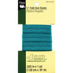 *5/8in Fold Over Elastic 1yd Tile Blue