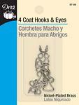 Coat Hooks & Eyes Nickel 4ct.