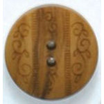 Fashion Buttons 1064 wood 2pk
