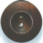 2 dark wooden buttons, 1-1/8 - 28mm