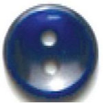 13mm Navy 2 Hole Polyester Button 4 per Card