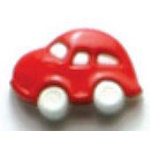 Dill 3/4 Shank Red Car Button 2ct