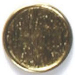 Fashion Buttons 1886 24k gold plated 2pk