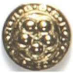 Antique Gold Plated Fashion Buttons 1116