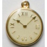 Dill 3/4 Gold Plated Ivory Clock Button 2ct