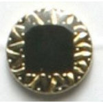 Fashion Buttons 535 24k gold plated 2pk