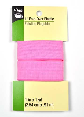 Fold Over Elastic Pnk Dot