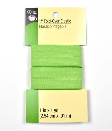 Fold Over Elastic Grn Dot