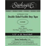 1/2 Double Sided Fusible Stay Tape - Clear (SewkeysE)