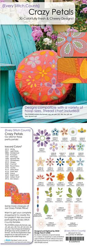 Every Stitch Counts Crazy Petals