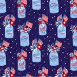 Patriotic Parade Patriotic Jars Dark Blue