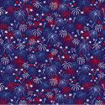 Patriotic Parade Fireworks Dark Blue