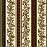 Vineyard Grapevine Border Stripe Cream Multi