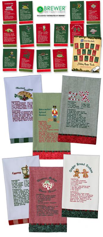 Holiday Recipe Towels USB