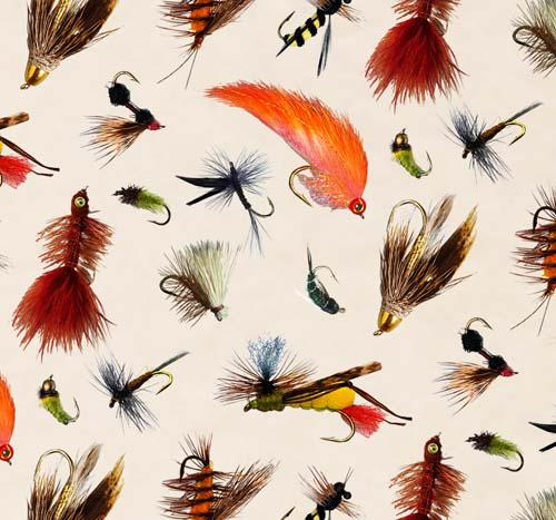 Top Rod Trout Flies Cream