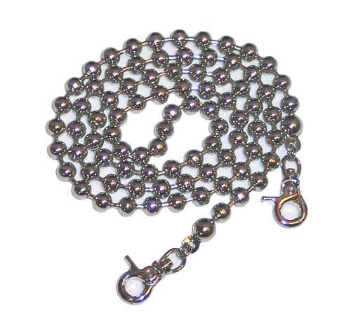 36 Silver Ball Chain