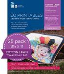 EQ Printables Cotton Lawn 25pk EQ Printables Premium Cotton Lawn 25pk