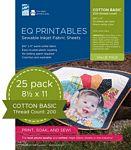 EQ Printables Regular Cotton Fabric Sheet 25pk