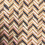 Cork Blend Fabric 51 in x 19 in Chevron