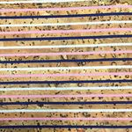 Cork Blend Fabric 51 in x 19 in Stripes