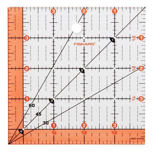 Fiskars Ruler Ez Read 4.5 SQ