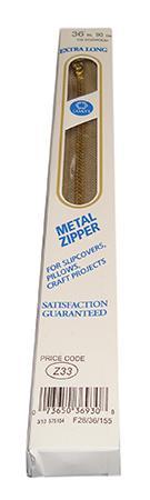 Brass Long Zipper 36, Dogwood
