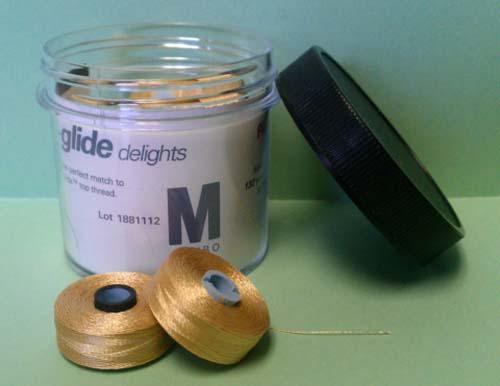 Cleopatra (Medium Gold) Prewound Bobbin Fil-Tec Magna-Glide M Style Poly