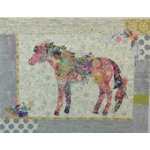 Confetti Horse Collage Kit includes Pattern and Patternease