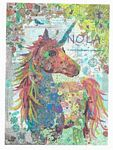 Nola A Unicorn Collage Pattern by Laura Heine