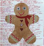 Whatevers #23 Gingerbread Man Collage Pattern