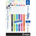 Frixion Fineliner 6PK Assorted Colors