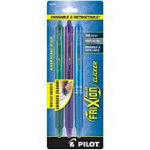 Frixion Clicker Gel Fine 3 Pack Green Pur Turq