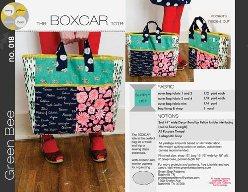The Boxcar Tote Pattern