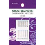 Needle Groz-Beckert 130/705HE 75 Embroidery carded