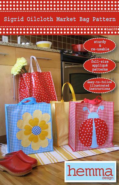 Sigrid Oilcloth Market Bag By Hemma Design
