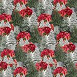 Holiday Homestead - Poinsettias, Multi - by Jan Shade Beach for Henry Glass