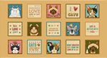 Live Love Meow - Blocks Panel, 24  - by Leanne Anderson for Henry Glass