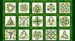 Irish Folk Celtic Knot Blocks 2/3 yd
