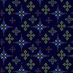 Silent Night Metallic Foulard Stars Midnight by Henry Glass