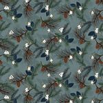 Folk Art Flannel IV Pine Boughs Lt Blue