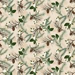 Folk Art Flannel IV Pine Boughs Cream