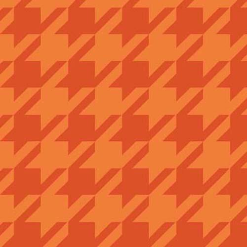Here Fishy Fishy-Houndstooth Orange
