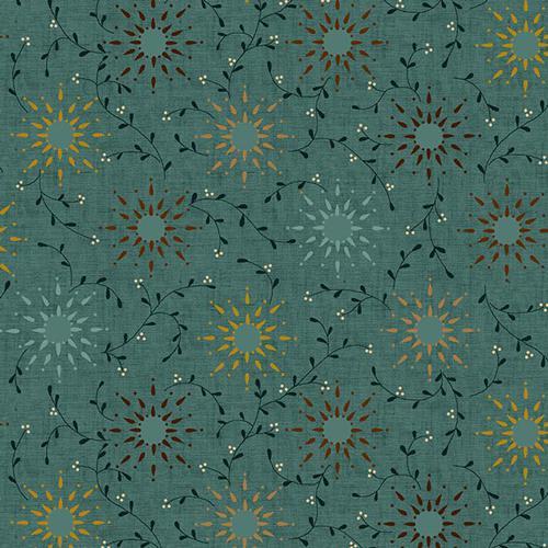 108in - Wide Backing - Prairie Vine - Blue Green - Henry Glass - 714329664101 - HEG6235-11