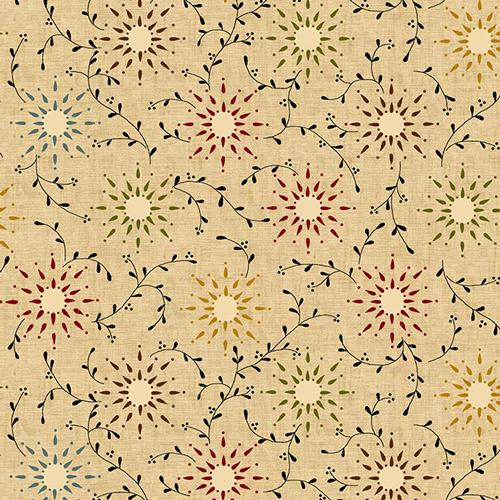 108in Wide Backing - Prairie Vine Tan- - Henry Glass - HG6235-44