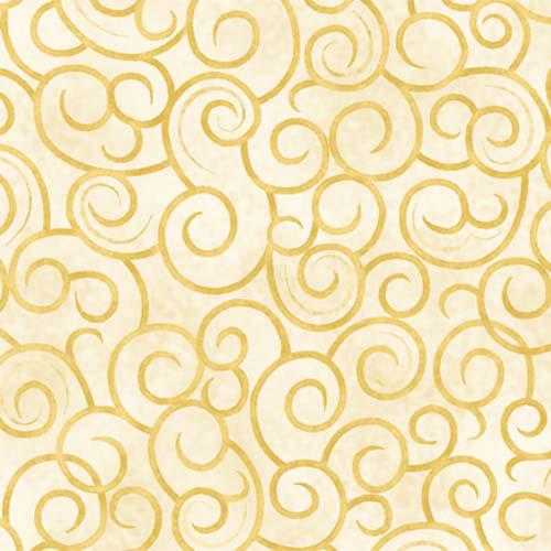 *The King's Arrival Gold Swirls on Cream