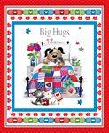 #64 BIG HUGS - GET WELL BANNER - PANEL 9331P 88 RED