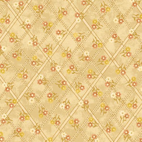 Buggy Barn Flannel Cream Floral