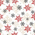 Henry Glass & Co. Flannel Gnomies Snowflake F9268-89 Multi