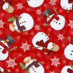 Gnomies Snowmen - Flannel F9272-88